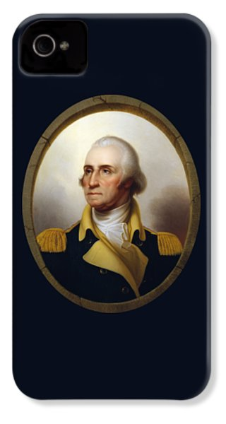 General Washington - Porthole Portrait  IPhone 4 Case by War Is Hell Store