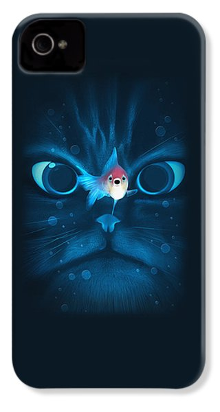 Cat Fish IPhone 4 / 4s Case by Nicholas Ely