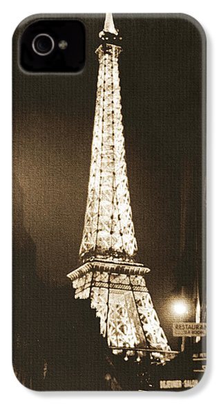 Postcard From Paris- Art By Linda Woods IPhone 4 Case by Linda Woods