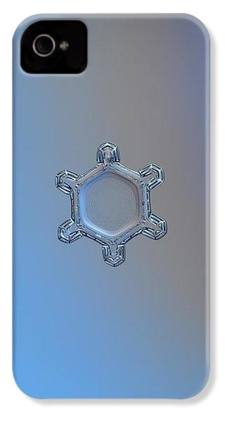 Snowflake Photo - Dusty Mirror IPhone 4 / 4s Case by Alexey Kljatov