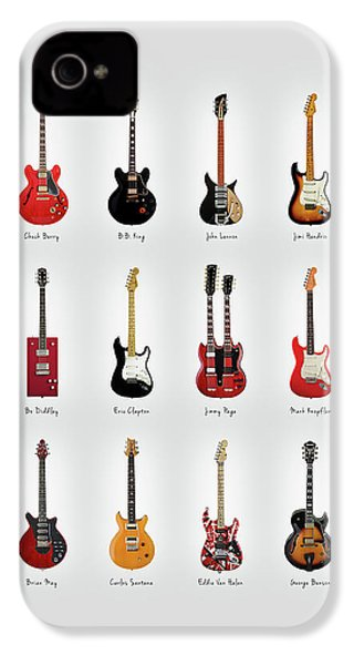 Guitar Icons No1 IPhone 4 Case by Mark Rogan