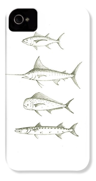 Saltwater Gamefishes IPhone 4 / 4s Case by Juan Bosco