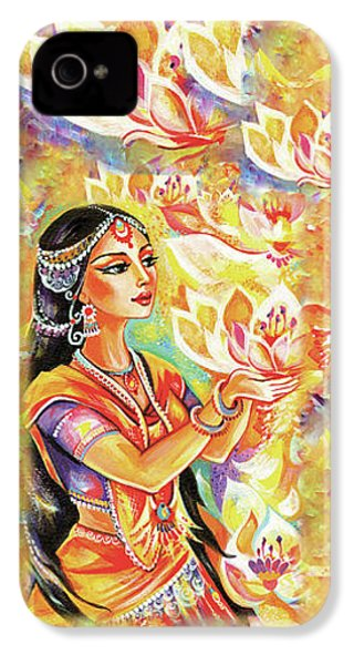 Pray Of The Lotus River IPhone 4 Case by Eva Campbell