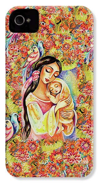 IPhone 4 Case featuring the painting Little Angel Dreaming by Eva Campbell