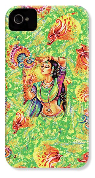 IPhone 4 Case featuring the painting The Dance Of Tara by Eva Campbell