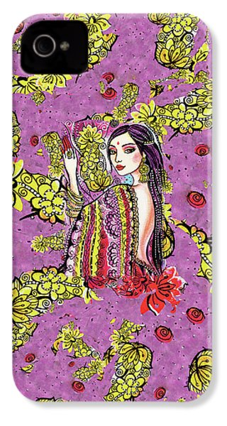 IPhone 4 Case featuring the painting Soul Of India by Eva Campbell