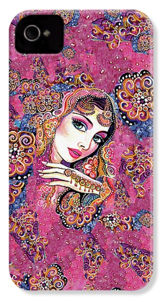 IPhone 4 Case featuring the painting Kumari by Eva Campbell