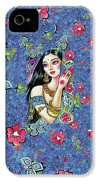 IPhone 4 Case featuring the painting Gita by Eva Campbell