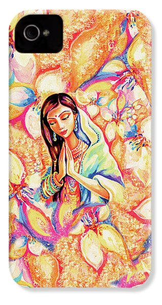 IPhone 4 Case featuring the painting Little Himalayan Pray by Eva Campbell