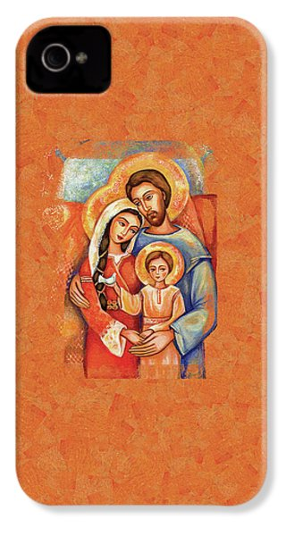 IPhone 4 Case featuring the painting The Holy Family by Eva Campbell