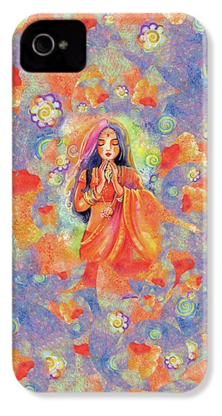 IPhone 4 Case featuring the painting Seashell Wish by Eva Campbell
