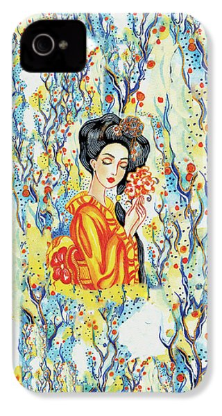 IPhone 4 Case featuring the painting Harmony by Eva Campbell