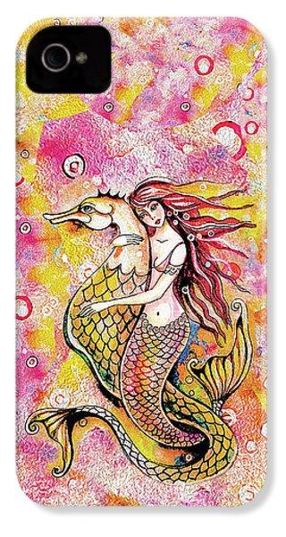 Black Sea Mermaid IPhone 4 Case by Eva Campbell