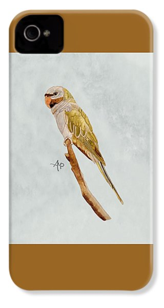 Derbyan Parakeet IPhone 4 Case by Angeles M Pomata