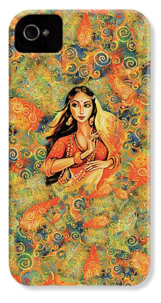 IPhone 4 Case featuring the painting Flame by Eva Campbell