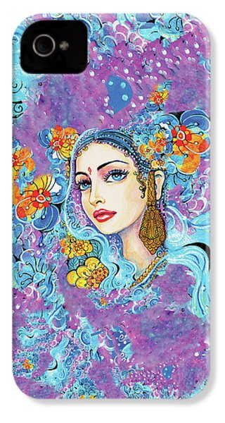 IPhone 4 Case featuring the painting The Veil Of Aish by Eva Campbell