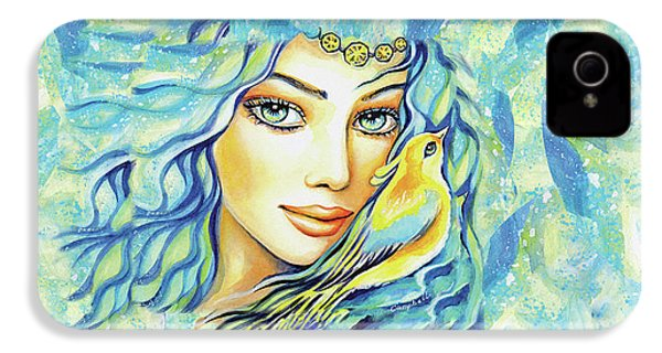 IPhone 4 Case featuring the painting Bird Of Secrets by Eva Campbell