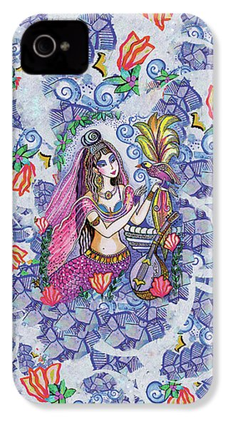 IPhone 4 Case featuring the painting Scheherazade's Bird by Eva Campbell