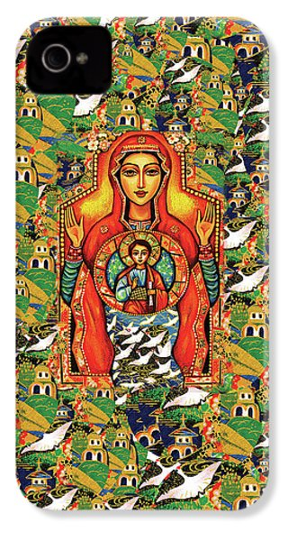 IPhone 4 Case featuring the painting Our Lady Of The Sign by Eva Campbell