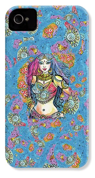 IPhone 4 Case featuring the painting Kali by Eva Campbell