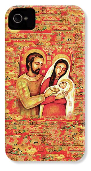 IPhone 4 Case featuring the painting Holy Family by Eva Campbell