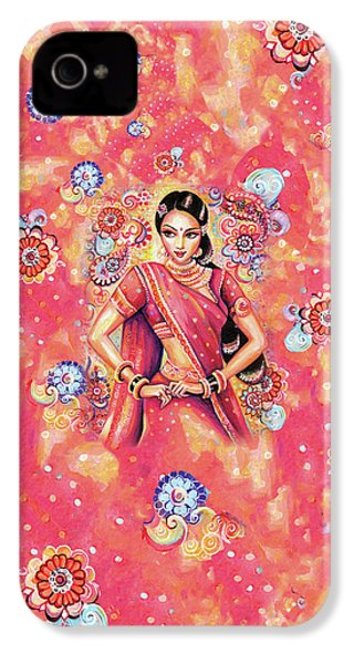 IPhone 4 Case featuring the painting Devika Dance by Eva Campbell