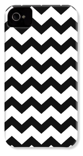 IPhone 4 Case featuring the mixed media Black White Geometric Pattern by Christina Rollo