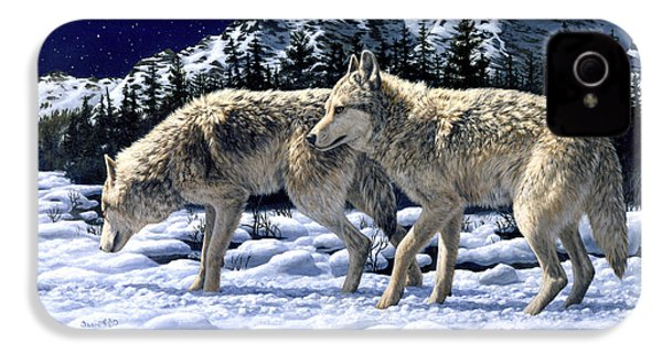 Wolves - Unfamiliar Territory IPhone 4 Case by Crista Forest