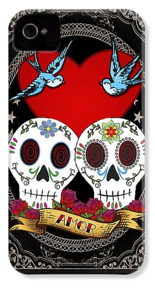 Love Skulls II IPhone 4 Case