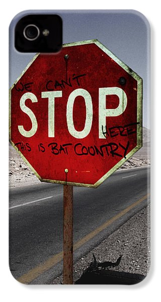 This Is Bat Country IPhone 4 Case by Nicklas Gustafsson
