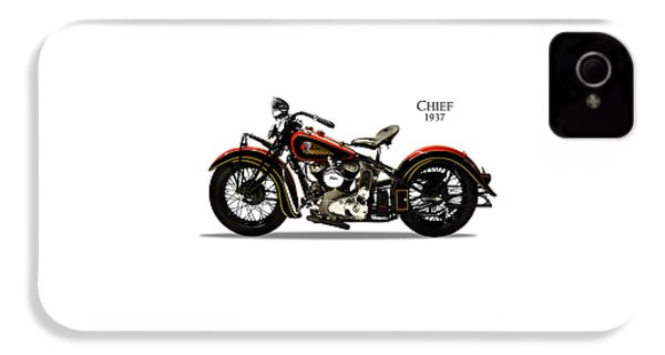 Indian Chief 1937 IPhone 4 Case by Mark Rogan