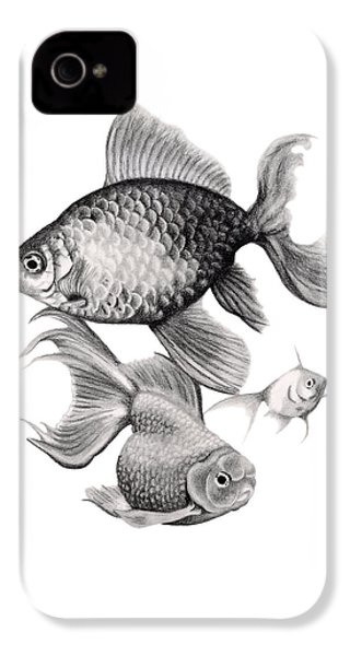 Goldfish IPhone 4 / 4s Case by Sarah Batalka