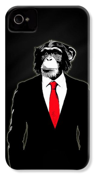 Domesticated Monkey IPhone 4 Case by Nicklas Gustafsson