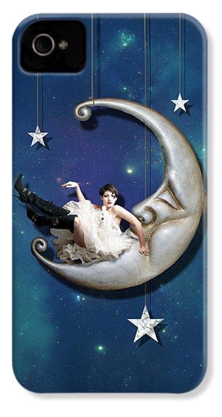 Paper Moon IPhone 4 Case by Linda Lees