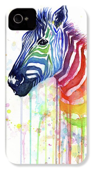 Rainbow Zebra - Ode To Fruit Stripes IPhone 4 Case