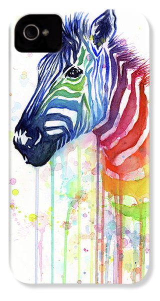 Rainbow Zebra - Ode To Fruit Stripes IPhone 4 Case by Olga Shvartsur