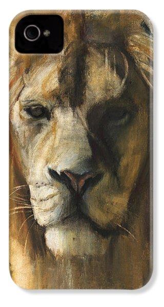 Asiatic Lion IPhone 4 Case by Mark Adlington