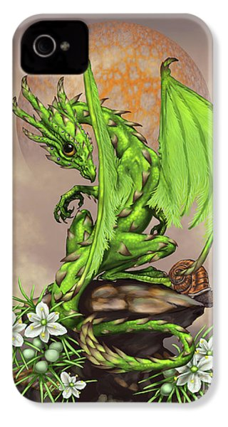 Asparagus Dragon IPhone 4 Case by Stanley Morrison