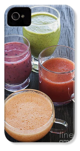 Assorted Smoothies IPhone 4 Case by Elena Elisseeva