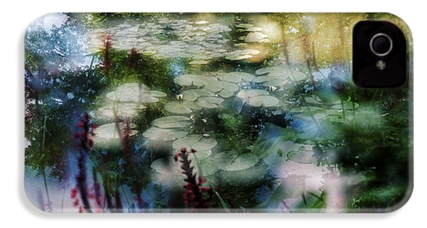 IPhone 4 Case featuring the photograph At Claude Monet's Water Garden 2 by Dubi Roman