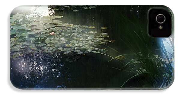 IPhone 4 Case featuring the photograph At Claude Monet's Water Garden 3 by Dubi Roman