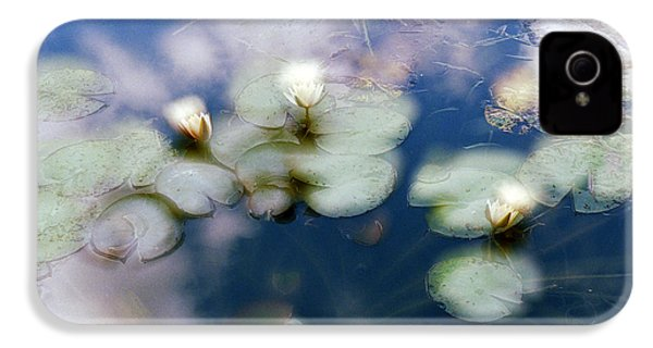 IPhone 4 Case featuring the photograph At Claude Monet's Water Garden 4 by Dubi Roman