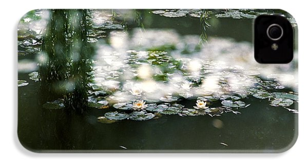 IPhone 4 Case featuring the photograph At Claude Monet's Water Garden 5 by Dubi Roman