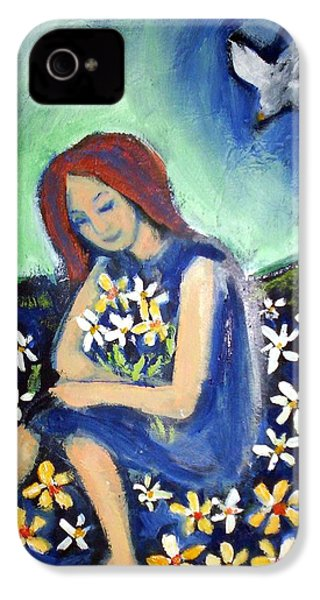IPhone 4 Case featuring the painting At Peace by Winsome Gunning