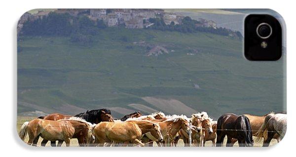 Castelluccio Di Norcia, Parko Nazionale Dei Monti Sibillini, Italy IPhone 4 Case by Dubi Roman