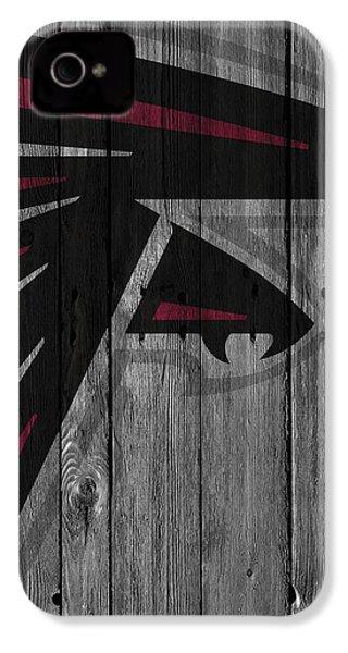 Atlanta Falcons Wood Fence IPhone 4 / 4s Case by Joe Hamilton