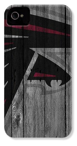 Atlanta Falcons Wood Fence IPhone 4 Case by Joe Hamilton