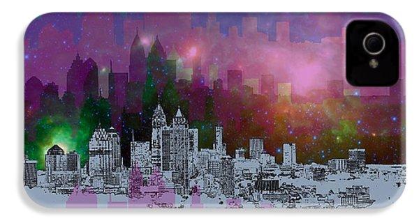 Atlanta Skyline 7 IPhone 4 Case by Alberto RuiZ