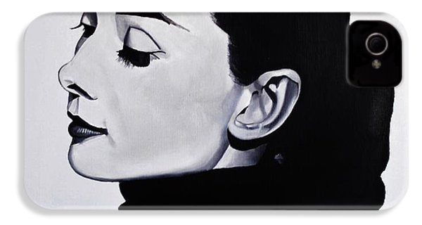 Audrey Hepburn 1 IPhone 4 Case by Brian Broadway