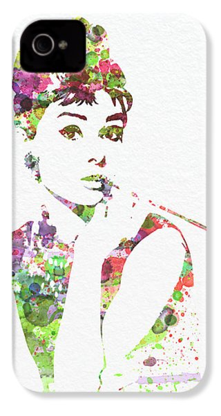 Audrey Hepburn 2 IPhone 4 / 4s Case by Naxart Studio